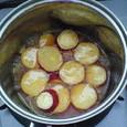 サツマイモのオレンジジュース煮